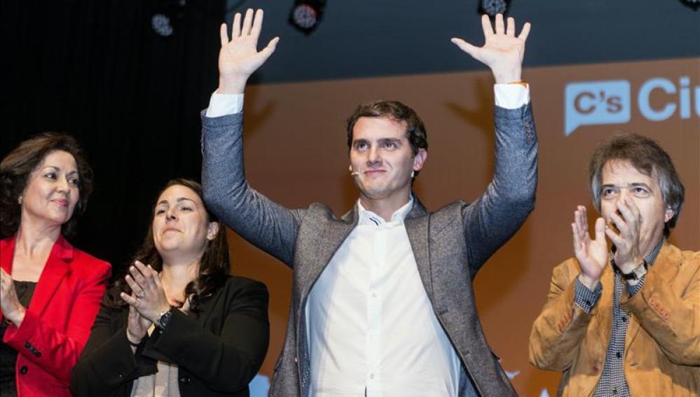 Albert Rivera en un acto de campaña electoral