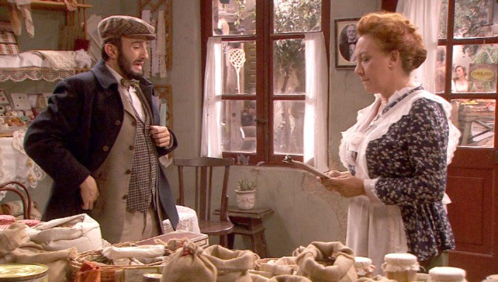 Dolores descubre a Onésimo falsificando su firma