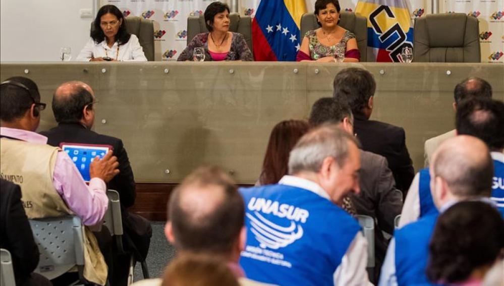 Miembros del Consejo Nacional Electoral de Venezuela (CNE)
