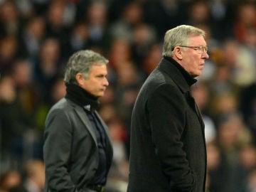 Ferguson, en su etapa como técnico del United junto a Mourinho