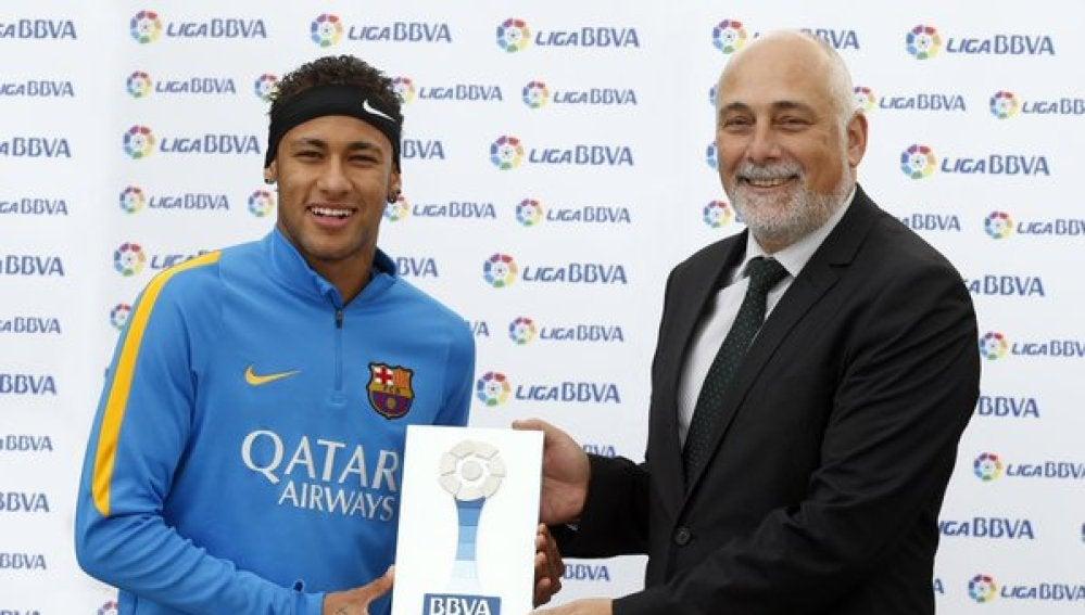 Neymar, mejor jugador de noviembre en la Liga