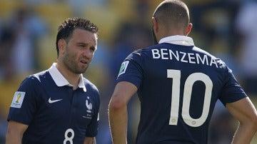 Benzema y Valbuena