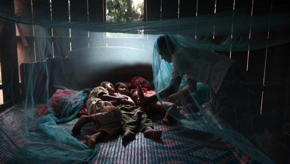 El 55% de la población de África subsahariana duerme bajo la protección de mosquiteras con insectidida