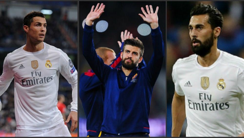 Cristiano, Piqué y Arbeloa