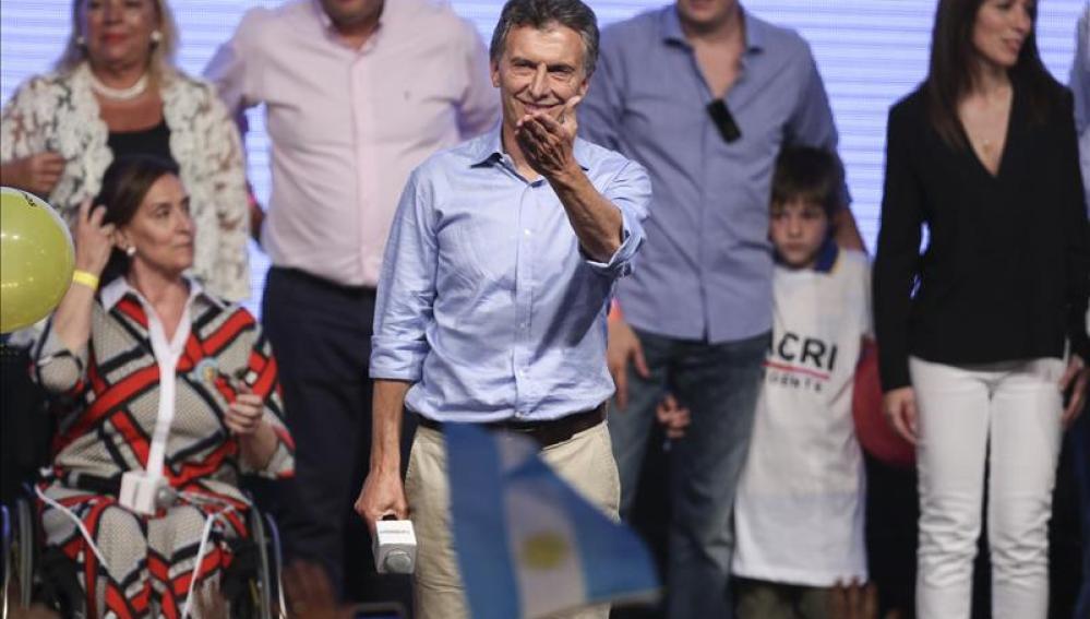 El presidente electo de Argentina, Mauricio Macri