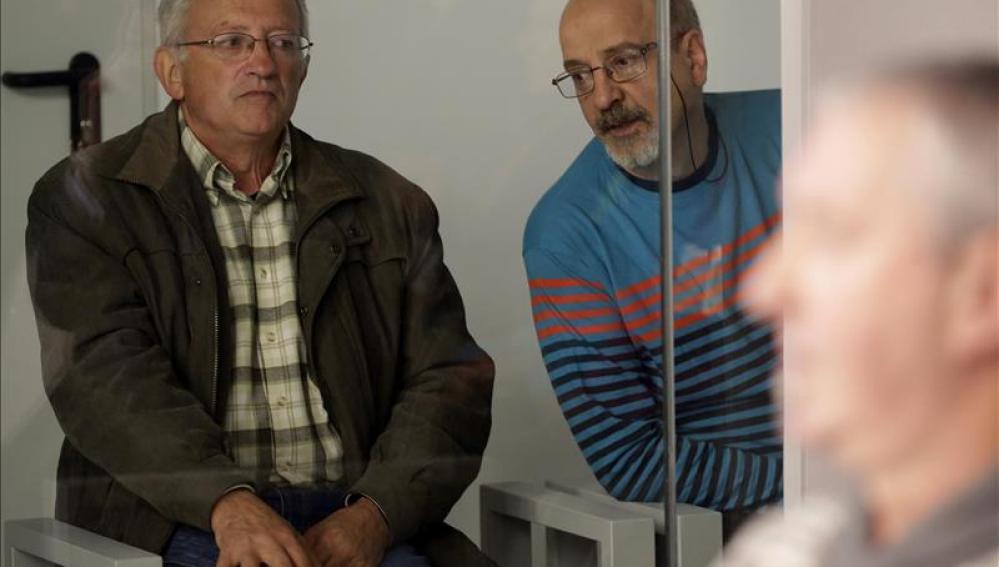 Juan María Múgica (izda) y Luis Ignacio Iruretagoyena, dos de los cuatro etarras