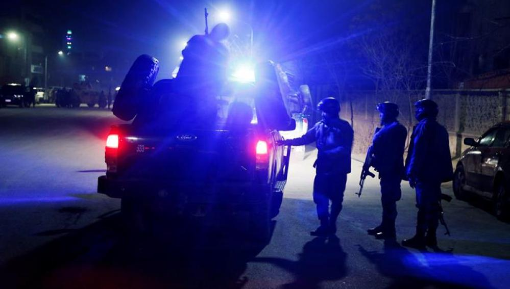 Miembros de las fuerzas de seguridad de Afganistán en Kabul