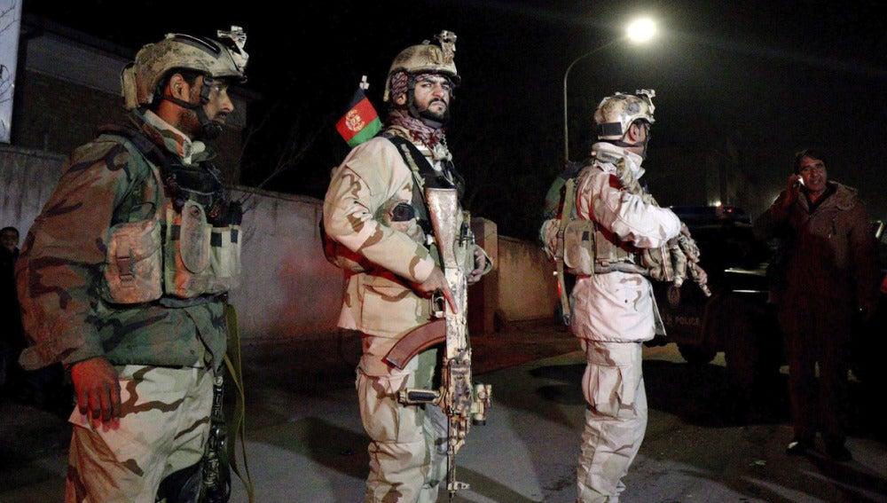 Miembros de las Fuerzas de Seguridad afganas