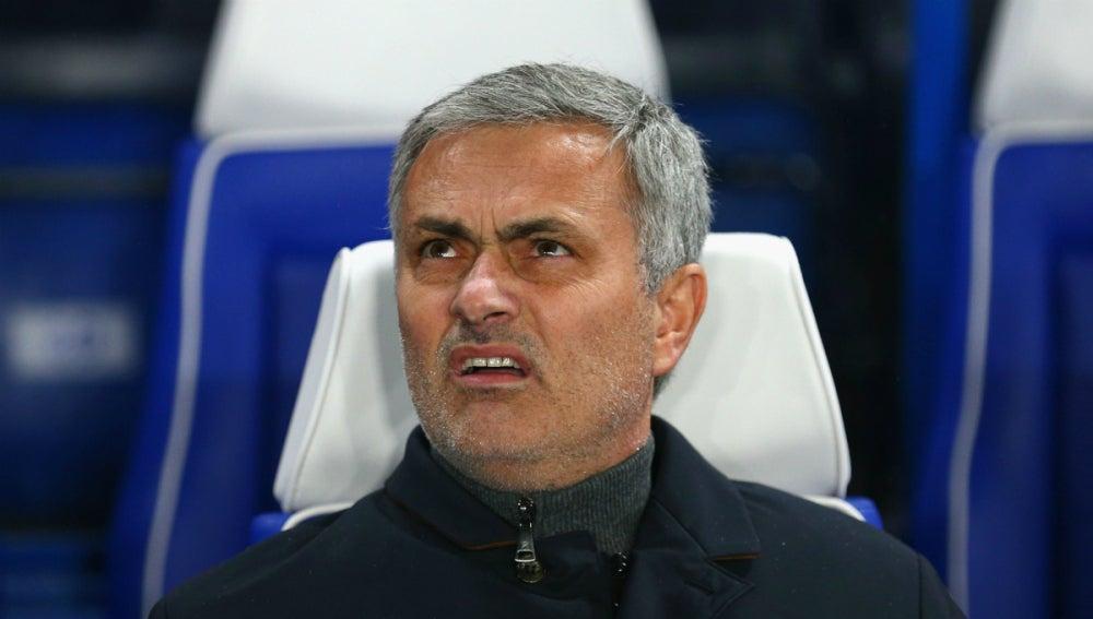 José Mourinho, durante el partido contra el Oporto