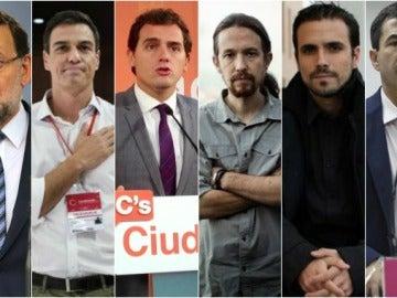 Los seis candidatos a la Presidencia del Gobierno