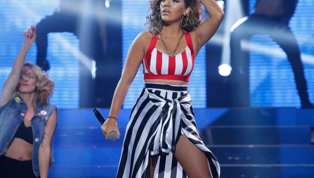 María Isabel se convierte en Rihanna y canta 'We found love'