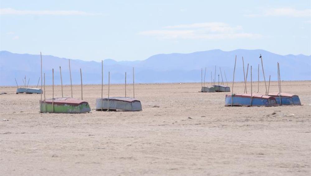 Sector del lago Poopó