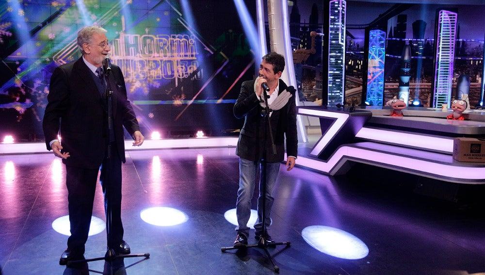 Plácido Domingo y su hijo cantan juntos en directo