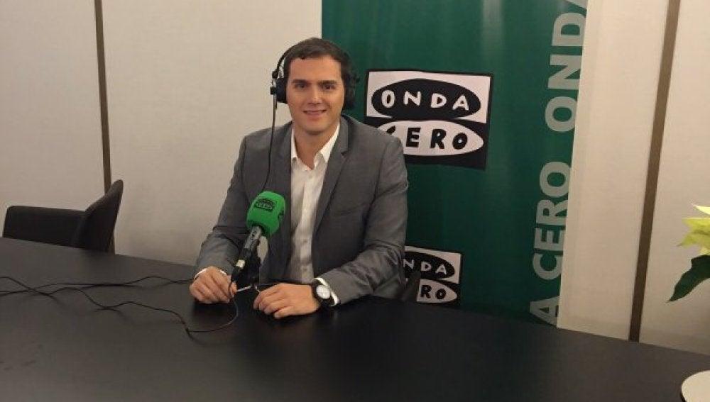 Albert Rivera durante una entrevista en Onda Cero