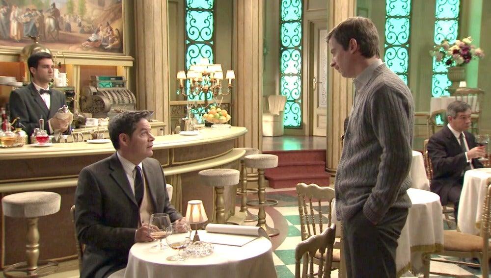 Ramón pide permiso a Marcelino para ensayar con Manolita