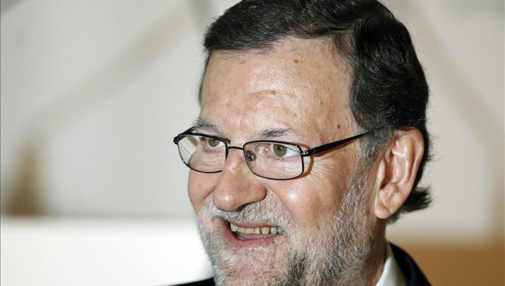 Mariano Rajoy durante un acto en Barcelona