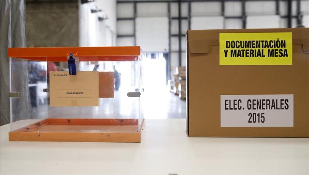Mesa electoral en Madrid