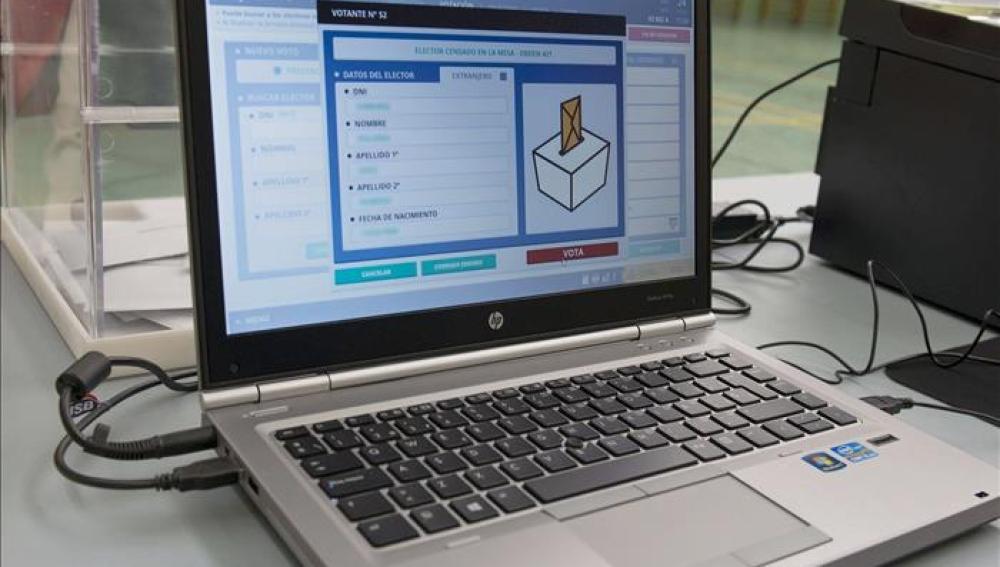 Una mesa electoral electrónica