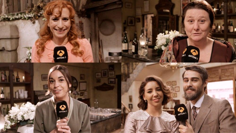 Los actores de 'El secreto de Puente Viejo' os desean lo mejor en estas fiestas