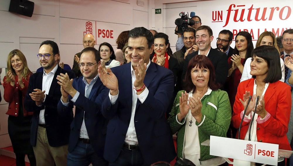 El PSOE comparece tras conocer los resultados electorales