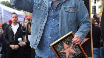 Tarantino y su estrella en el Paseo de la Fama