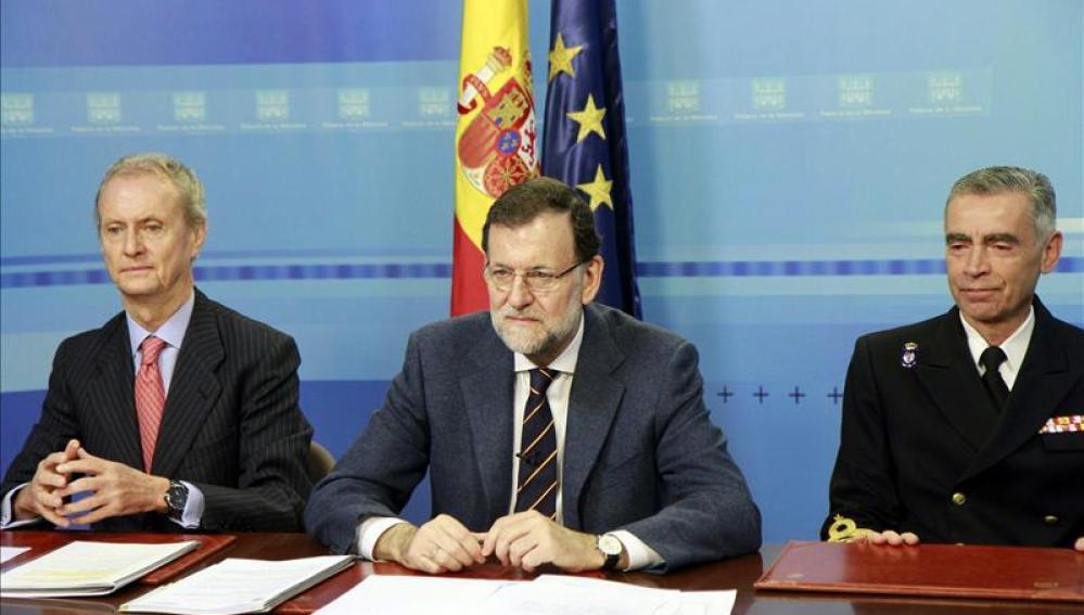 Rajoy felicita la navidad a las tropas