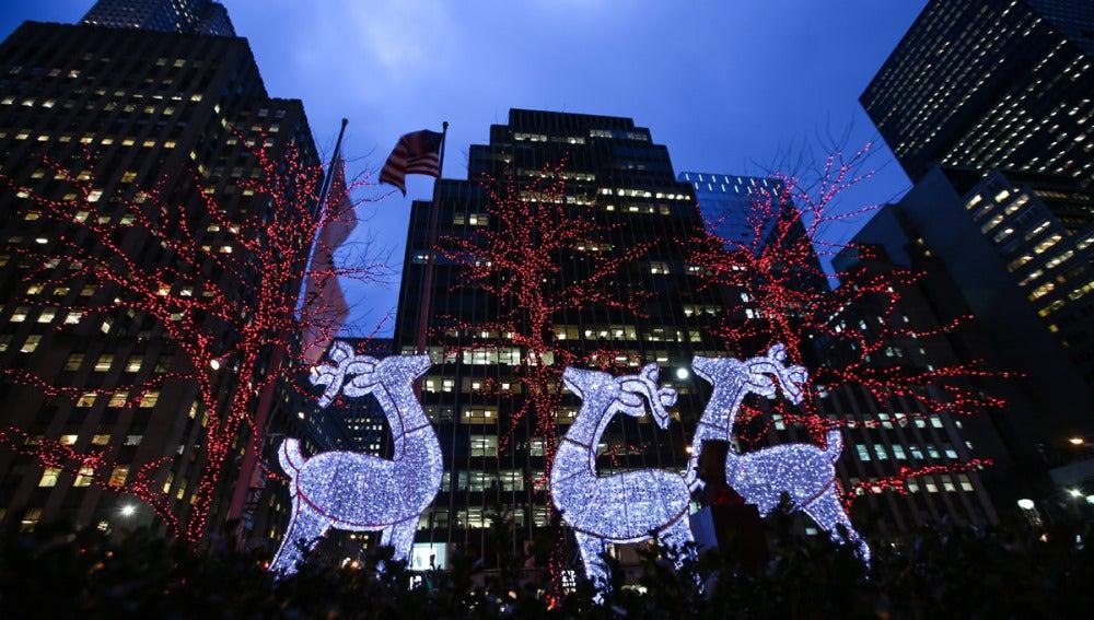 Iluminación navideña en Nueva York