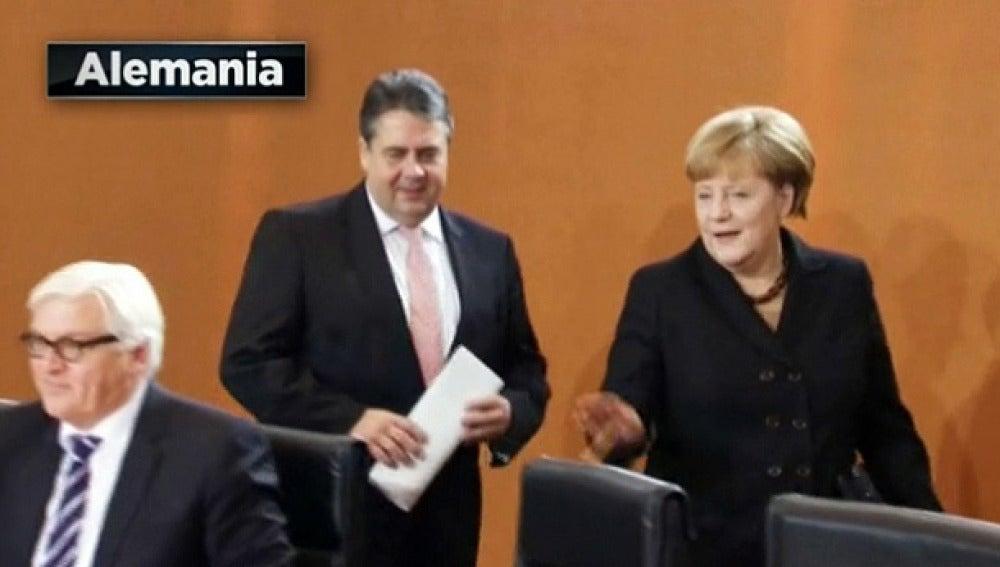 Merkel y su socio de gobierno
