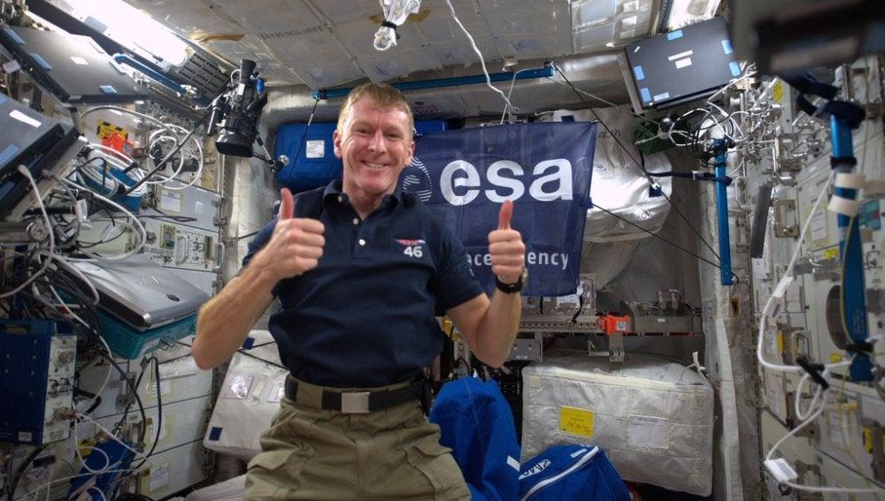 Tim Peake, astronauta en la Estación Espacial Internacional