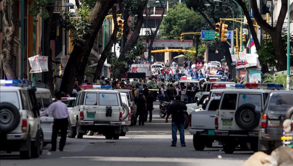 Patrullas en las calles de Venezuela