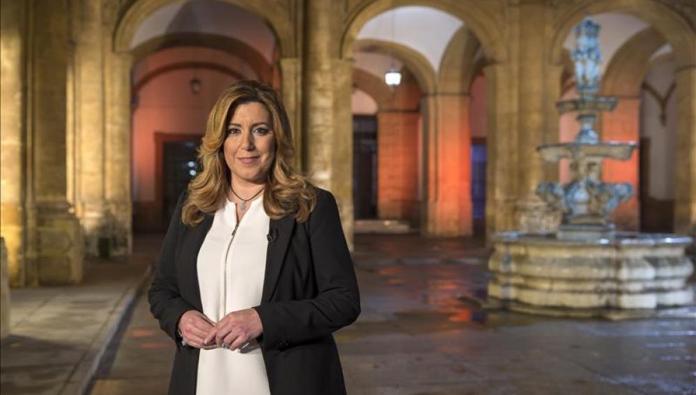 Susana Díaz durante el discurso