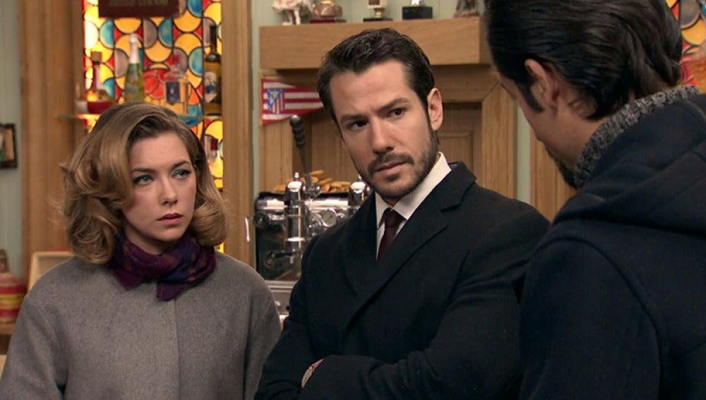 Miguel se encuentra con Leonor y Lucas