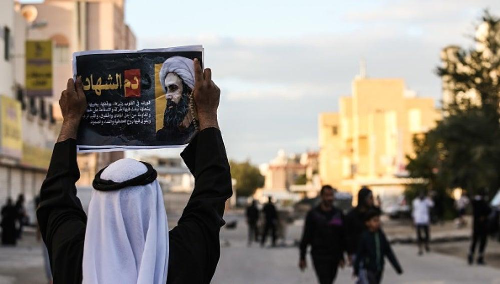 Protestas en la ciudad de Manama (Baréin)