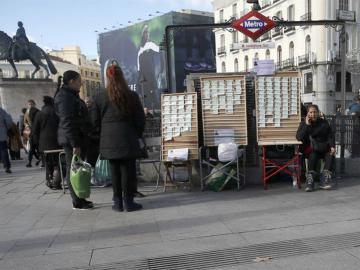 Puntos de venta de décimos en el centro de Madrid