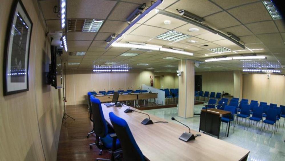 Interior de la sala de la sede de la Escuela Balear de la Administración Pública de Palma (EBAP)