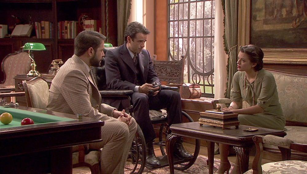 Severo y Carmelo le explican a Sol que el acuerdo es una trampa.