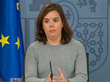 Soraya Sáenz de Santamaría en Consejo de Ministros