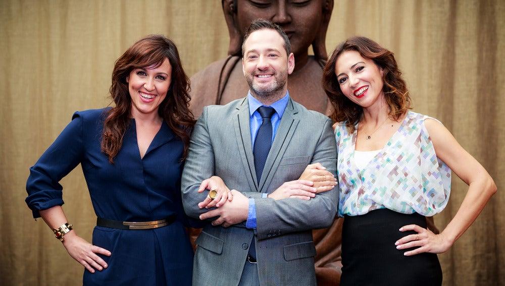 Marían Frías, Rubén Tuienzo y Silvia Sanz