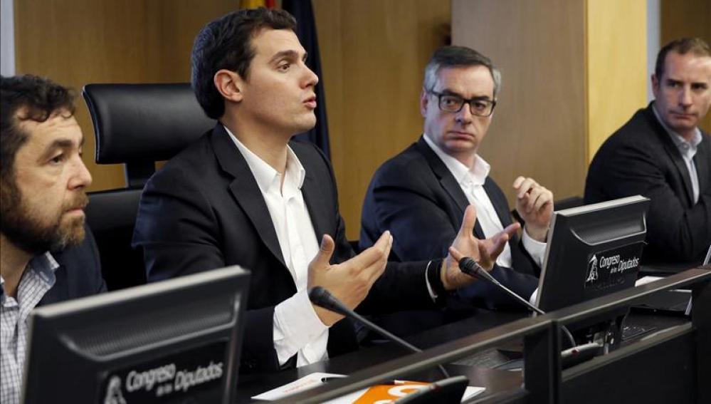 Albert Rivera preside la reunión de los diputados de su formación este viernes