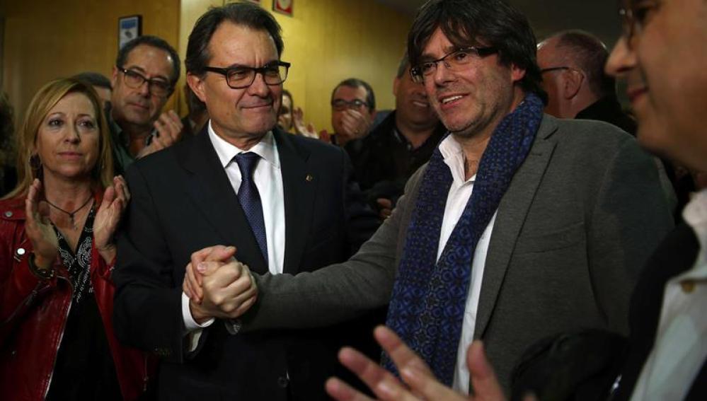 Artur Mas y Carles Puigdemont