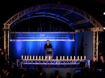 Homenaje en París a los fallecidos en el atentado contra un supermercado hace un año