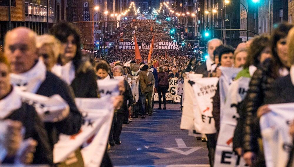 Manifestación contra la dispersión de presos de ETA