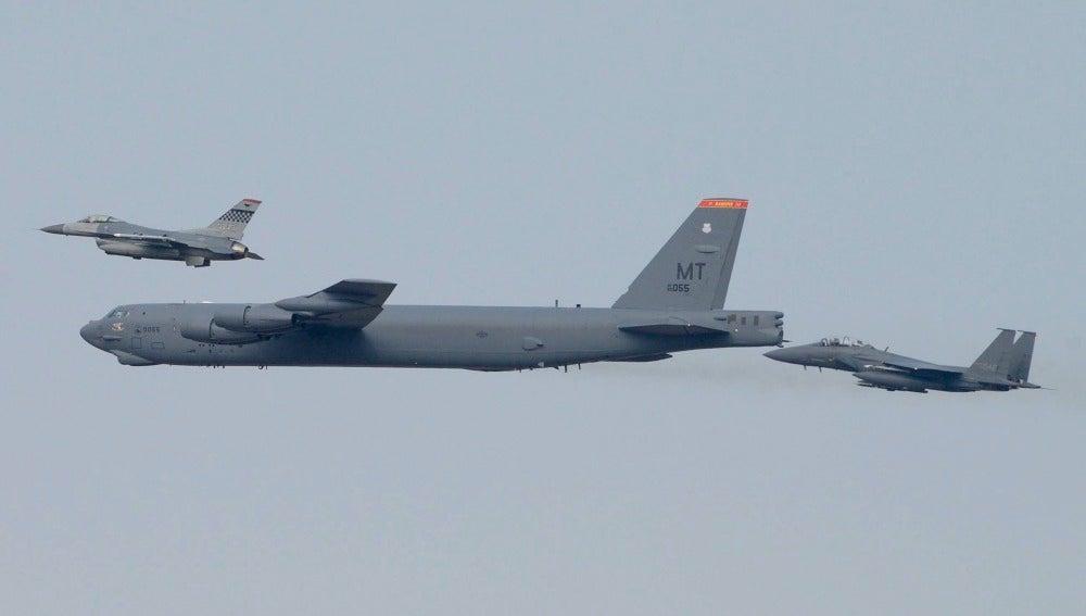 Bombardero EEUU en Corea