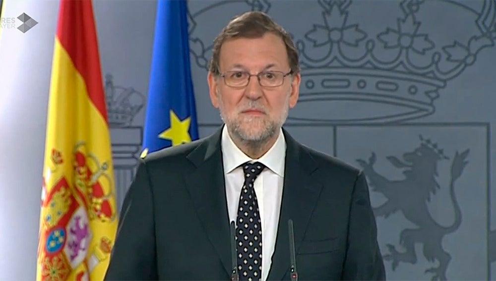 Mariano Rajoy, comparece tras el discurso de Puigdemont