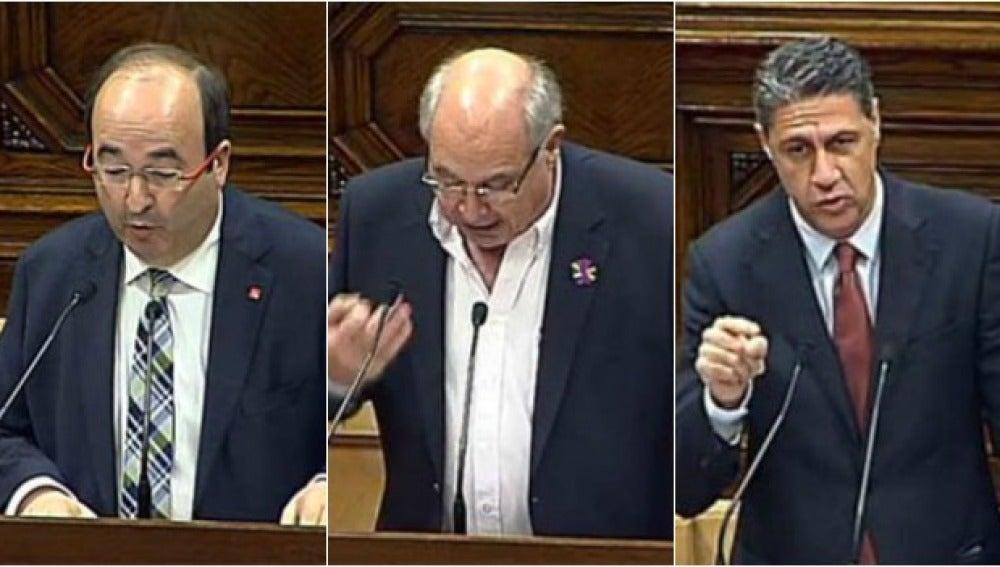 Miquel Iceta, Lluís Rabell y Xavier García Albiol