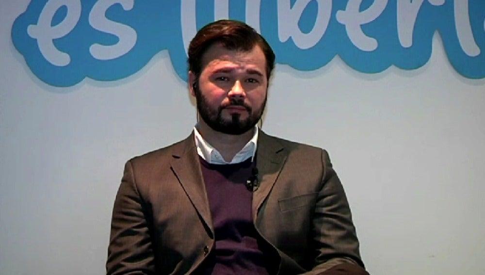 Gabriel Rufián en Espejo Público