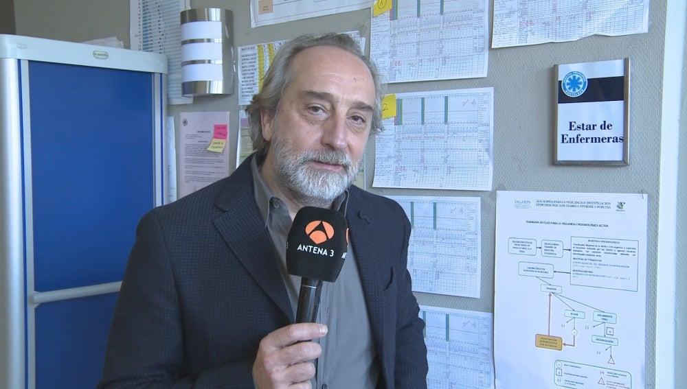 Gonzalo de Castro en la rueda de prensa de la segunda temporada de 'Bajo Sospecha'