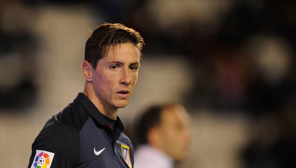 Fernando Torres en el partido de Copa del Rey en Vallecas