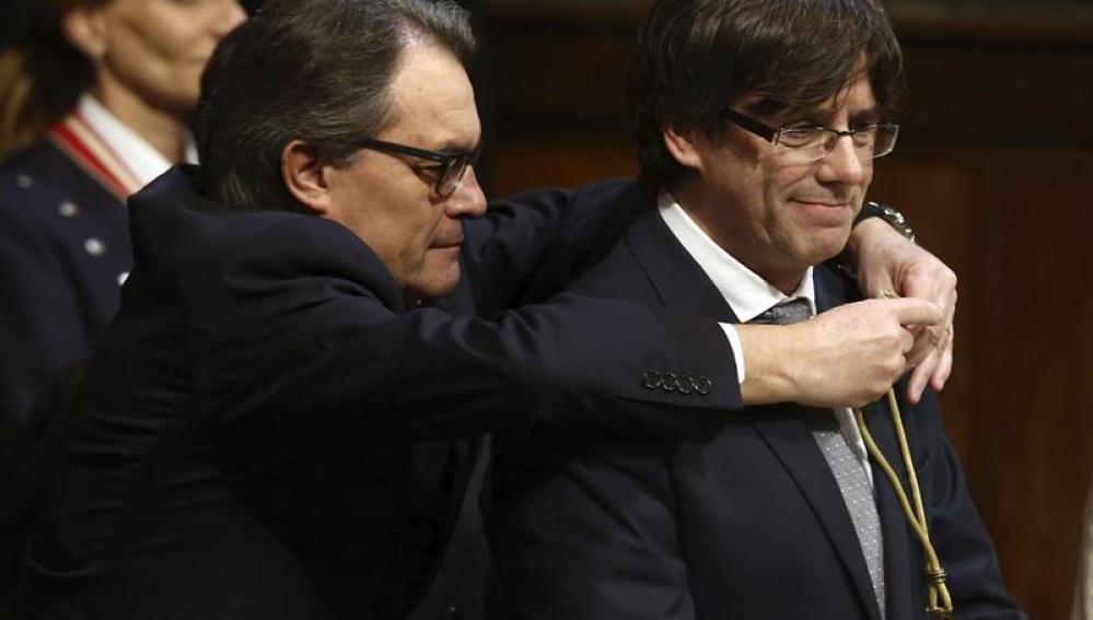 Toma de posesión del nuevo presidente de la Generalitat