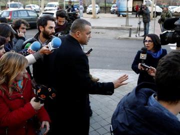 Miguel Ángel Flores, a la llegada al juicio